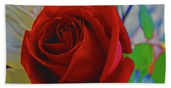 Red Red Rose Hand Towel