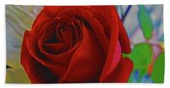 Red Red Rose Bath Towel