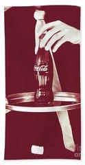 Red Retro Coca-cola Hand Towel
