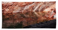 Red River Hand Towel by Donna Blackhall