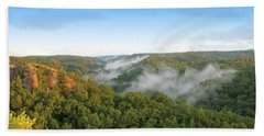 Red River Gorge Kentucky View Of Chimney Top Rock At Sunset Hand Towel