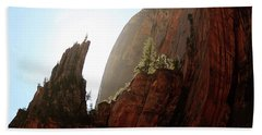 Red Rock At Zion Bath Towel