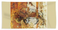Red Rock Bison Bath Towel