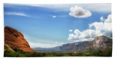 Red Rock Canyon Vintage Style Sweeping Vista Hand Towel