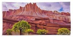 Red Rock Cougar Bath Towel by Walter Colvin