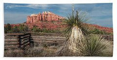 Hand Towel featuring the photograph Red Rock Formation In Sedona Arizona by Randall Nyhof
