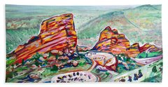 Red Rocks Amphitheatre Hand Towel