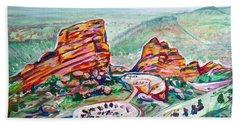Red Rocks Amphitheatre Hand Towel