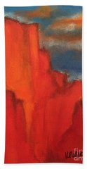 Bath Towel featuring the painting Red Rocks by Kim Nelson