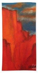 Red Rocks Bath Towel