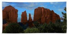 Red Rocks Of Sedona Arizona Hand Towel by Anne Rodkin
