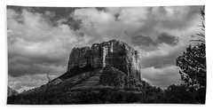 Hand Towel featuring the photograph Red Rocks Sedona Bnw 1 by David Haskett
