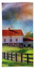 Red Roof Barn Hand Towel