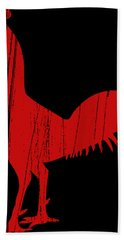 Red Rooster Tee Hand Towel