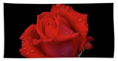 Hand Towel featuring the photograph Red Rose 013 by George Bostian
