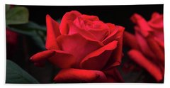 Bath Towel featuring the photograph Red Rose 014 by George Bostian