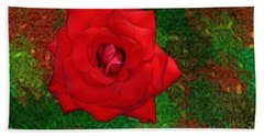 Hand Towel featuring the photograph Red Rose 2 by Jean Bernard Roussilhe