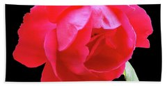 Red Rose Cutout Bath Towel