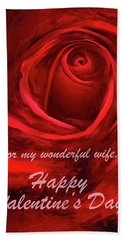 Red Rose II Hand Towel by George Robinson