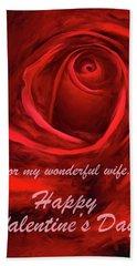 Red Rose II Bath Towel