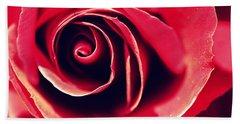 Red Rose Hand Towel by Joseph Skompski