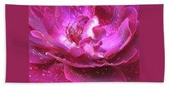 Red Rose Rain Dance - 2nd In A Series Of 6 Bath Towel