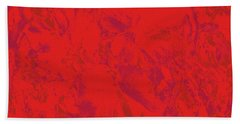 Hand Towel featuring the photograph Red Rules by Nareeta Martin