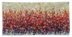 Red Run Hand Towel by Lynne Taetzsch