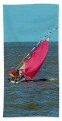 Red Sail Near Maputo Hand Towel