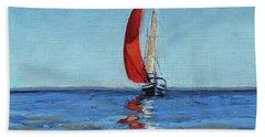 Red Sail Bath Towel