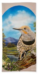Flying Lamb Productions                       Red Shafted Flicker Bath Towel