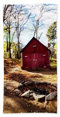 Hand Towel featuring the photograph Red Shed by Randy Sylvia