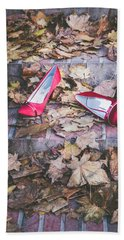 Red Shoes Hand Towel