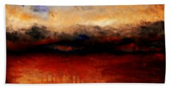 Red Skies At Night Bath Towel
