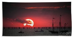 Red Sky Bath Towel by Scott and Dixie Wiley