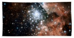 Red Smoke Star Cluster Bath Towel