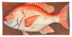 Red Snapper Hand Towel
