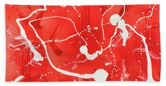 Red Spill Hand Towel