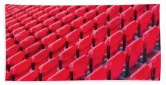 Red Stadium Seats Bath Towel