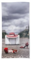 Red Stilettos Bath Towel