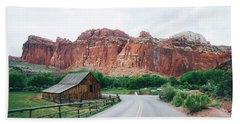 Red Stone Mountain  Hand Towel