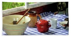 Red Sugar Bowl Hand Towel