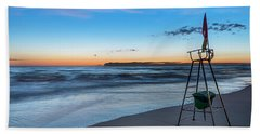 Red Sun In The Sunset Beach - Spiaggia Al Tramonto Hand Towel