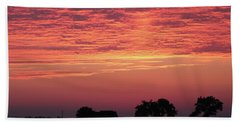 Red Sunrise Hand Towel