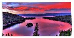 Red Tahoe Hand Towel by Scott Mahon