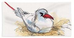Red-tailed Tropicbird On Aitutaki Bath Towel