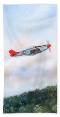 Red Tails Bath Towel