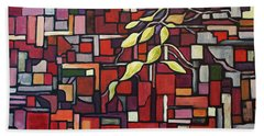 Hand Towel featuring the painting Red Tango by Joanne Smoley