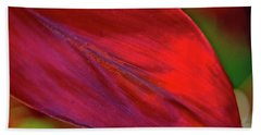 Red Ti Leaves 01 Hand Towel