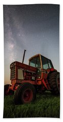 Bath Towel featuring the photograph Red Tractor by Aaron J Groen
